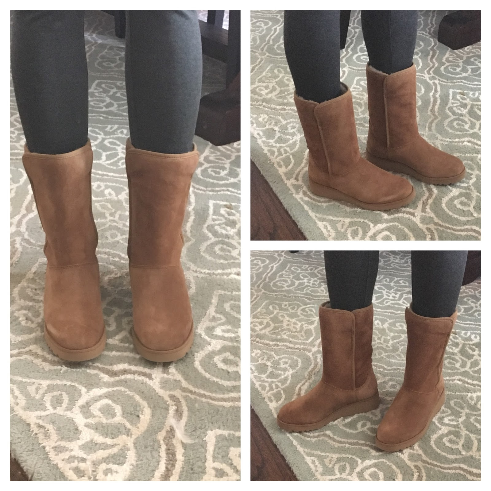 Amie wedge c/o UGG® HERE (true to size) See how they are much slimmer? Love. And notice the little bit of a wedge!